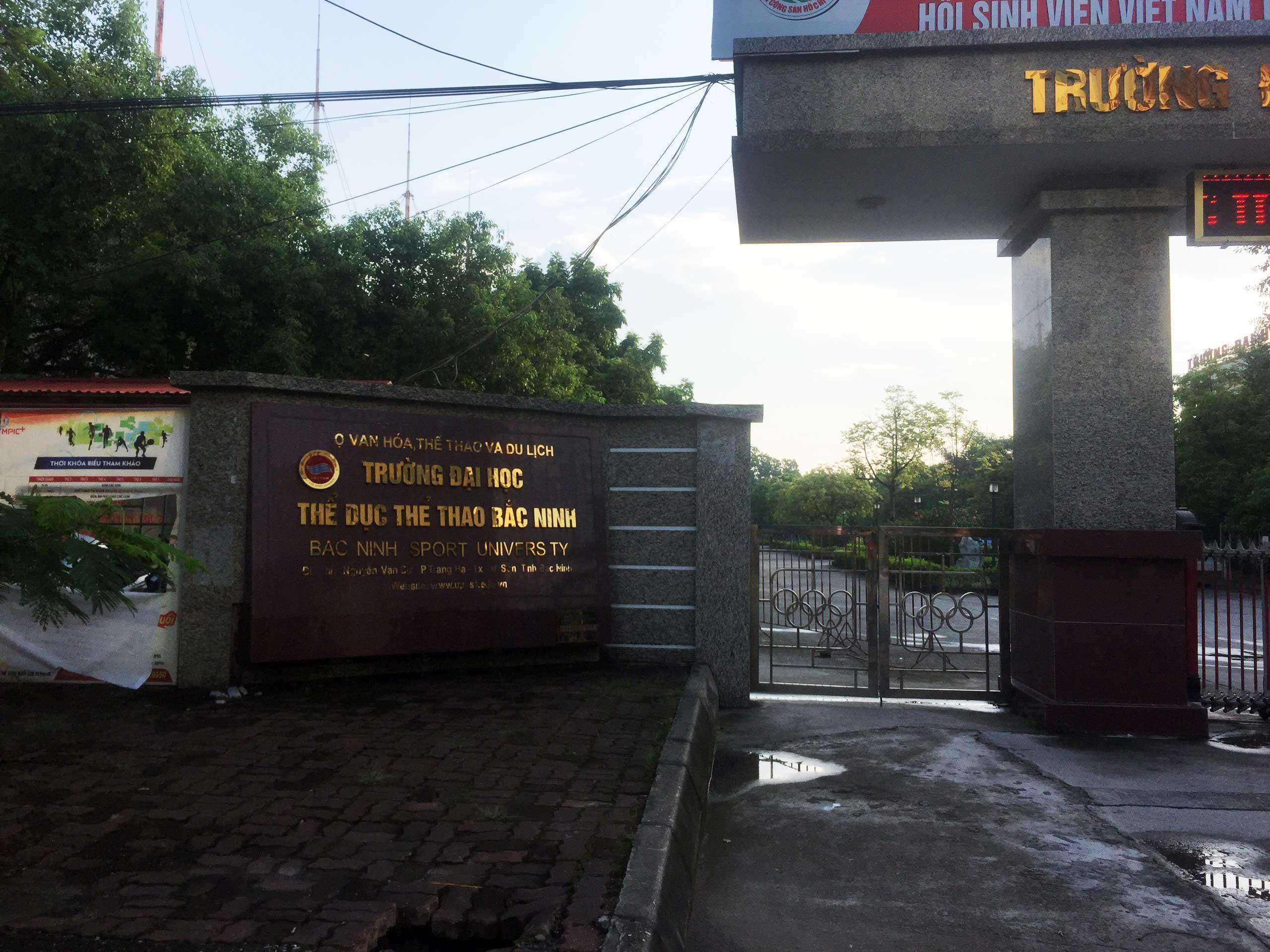 Bàn giao trống trường học cho Đại Học TDTT Bắc Ninh