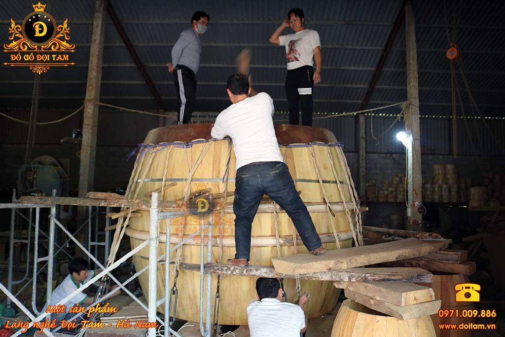 sản xuất trống đình chùa