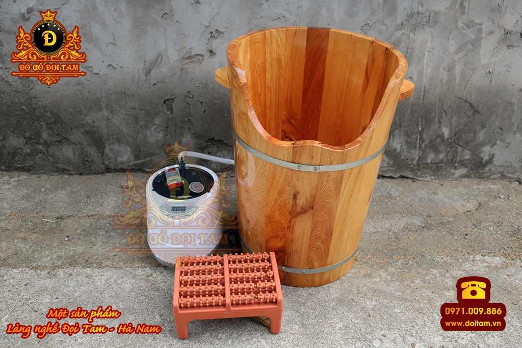 Sản xuất thùng xông hơi chân bằng gỗ Pơmu tại làng nghề Đọi Tam - Đặt mua thùng gỗ ☎ 0971.009.886 #chaugo #chaugongamchan #doitam #duytien #hanam #vietnam #dogodoitam
