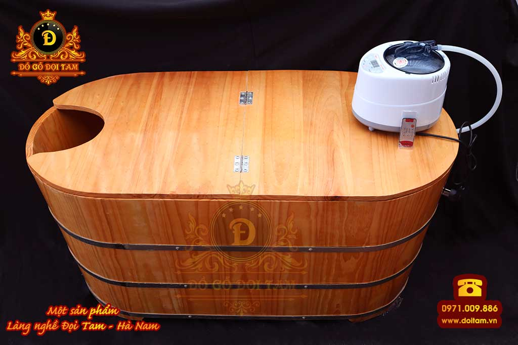 Sản xuất bồn tắm gỗ xông hơi tại làng nghề Đọi Tam - Đặt mua bồn tắm gỗ spa ☎ 0971.009.886 #bontamgo #thunggo #doitam #duytien #hanam #vietnam #dogodoitam #xonghoi