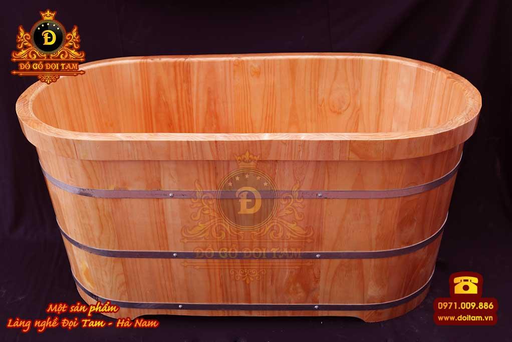 Bồn tắm nằm gỗ thông bo viền