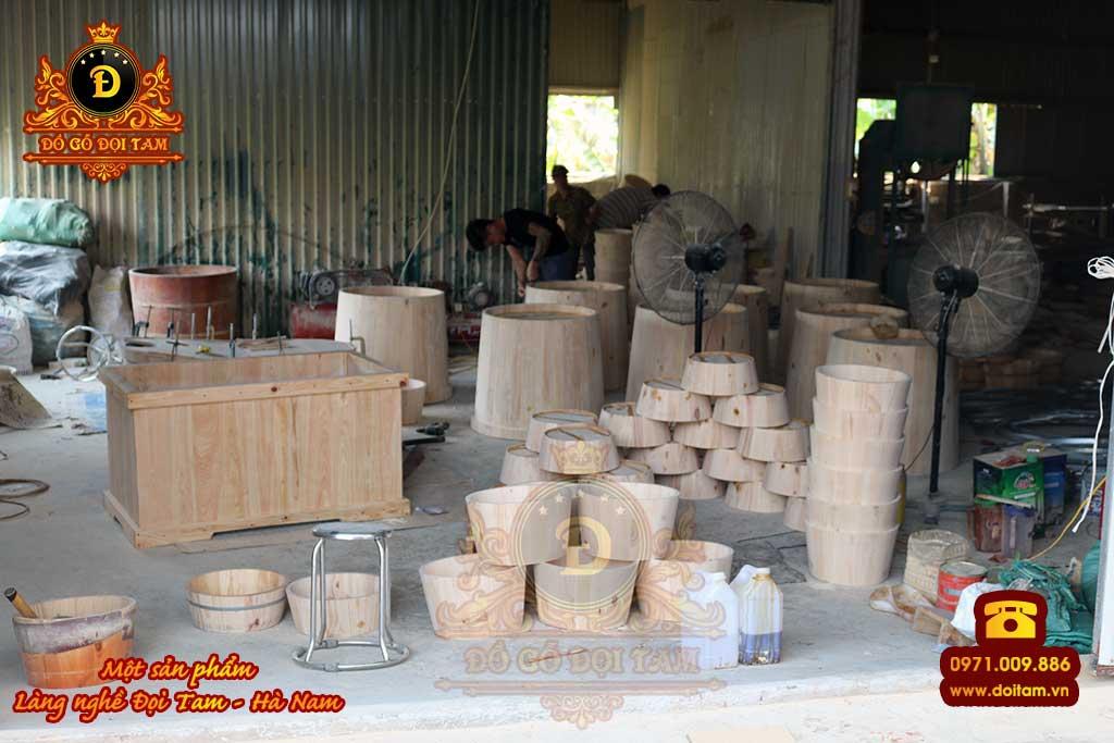 Cơ sở sản xuất bồn tắm gỗ tại Tuyên Quang