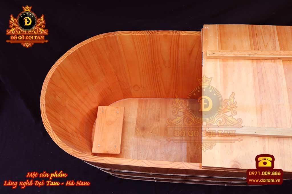 Bồn tắm nằm xông hơi gỗ thông