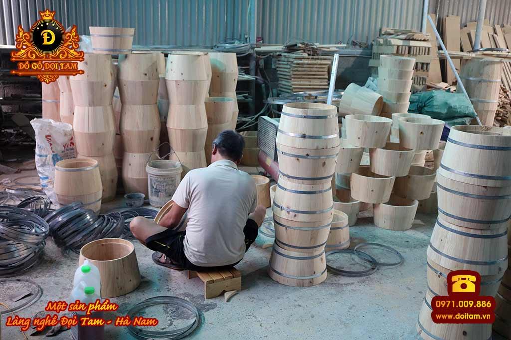 Cơ sở sản xuất thùng gỗ tại Trà Vinh
