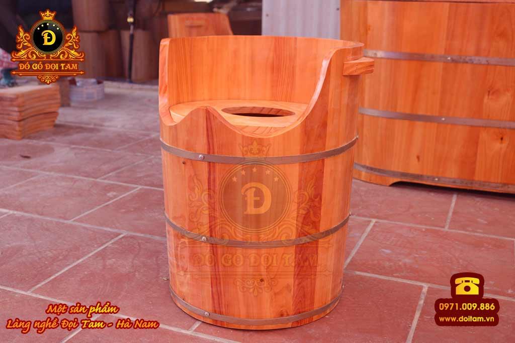 Thùng xông hơi chân gỗ Thông