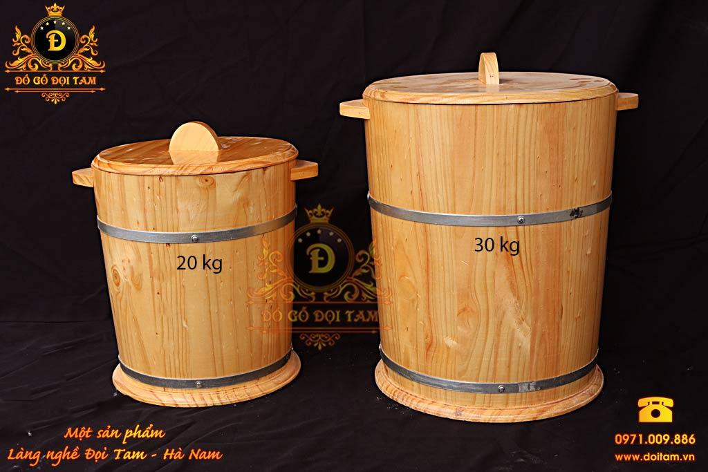 Thùng Gỗ Đựng Gạo 20 kg