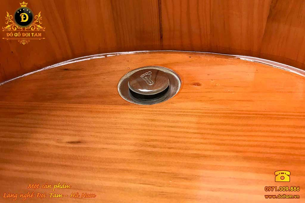 Bồn tắm nằm gỗ Thông 120 cm
