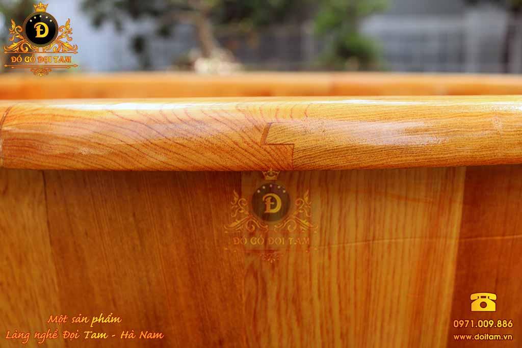 Bồn tắm nằm gỗ Pơ Mu 120 cm
