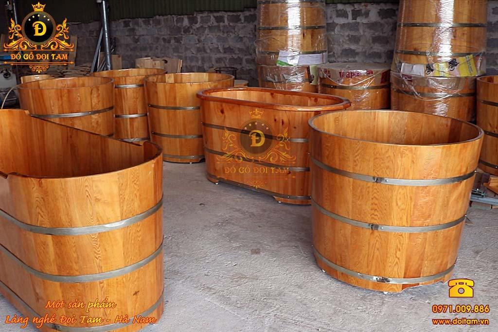 Bồn tắm gỗ nằm Thông 150 cm