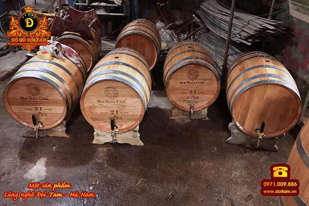 Thùng rượu gỗ Sồi 50 Lít