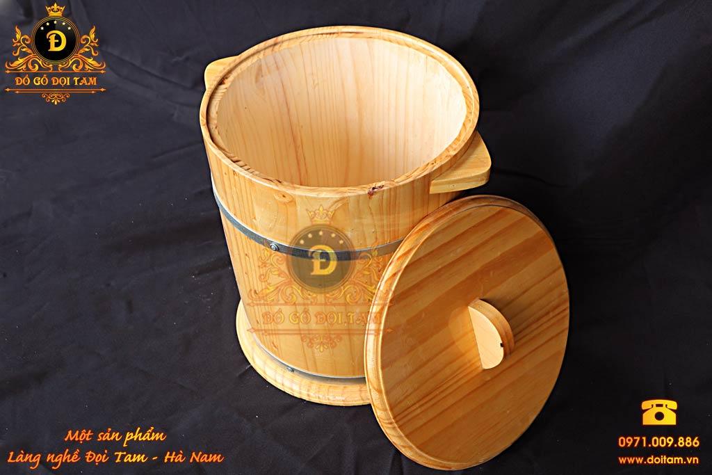 Thùng Gỗ Đựng Gạo 30 kg