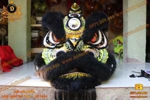 Đầu Lân Mengkok Lông Cừu Màu Đen