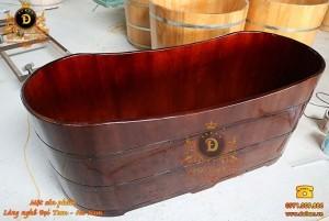 Bồn tắm gỗ nằm gỗ Thông 150 cm