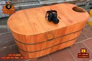 Bồn tắm xông hơi gỗ thông dài 100 cm